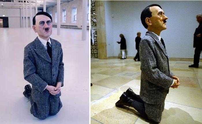 Молящийся Гитлер. Автор: Маурицио Каттелан.