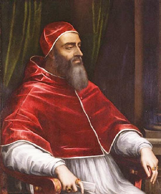 Римский папа -Климент VII (в миру Джулио Медичи). Художник Sebastiano del Piombo. Период понтификата: 19 ноября 1523г. по 25 сентября 1534г.