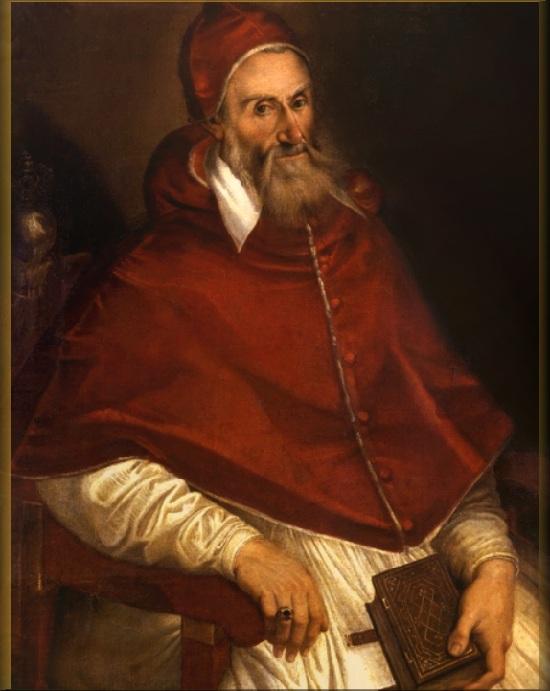 Римский папа - Пий IV. (в миру  Giovanni Angelo de Medici). Период понтификата: с 25 декабря 1559 г. по 9 декабря 1565 г.