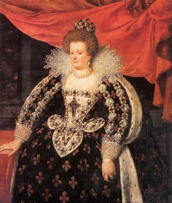 Мария Медичи (1575-1642) — королева Франции, дочь великого герцога Франческо I Тосканского и Иоанны Австрийской. Вторая жена Генриха IV Бурбона, мать Людовика XIII.