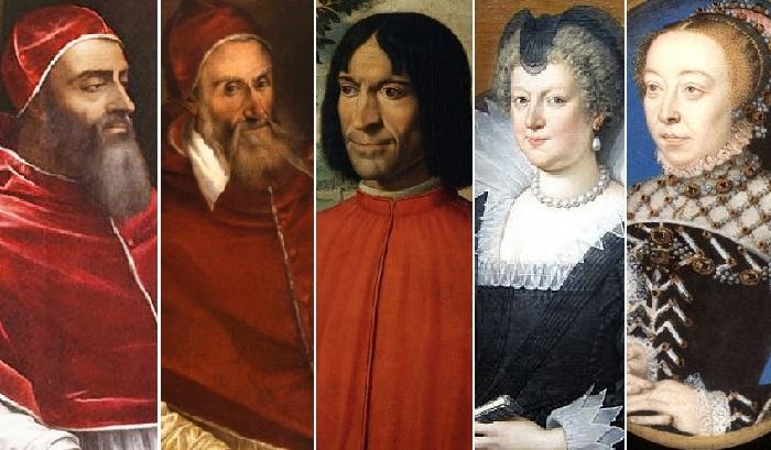 Знаменитые представители рода Медичи.