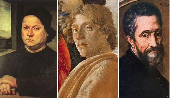 Андреа дель Верроккьо, Сандро Боттичелли, Микеланджело Буонарроти.