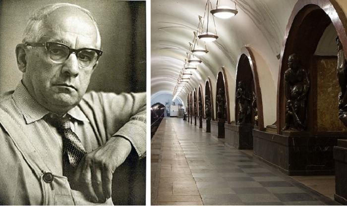 Скульптор М.Г. Манизер - автор скульптурного комплекса станции метро «Площадь Революции».