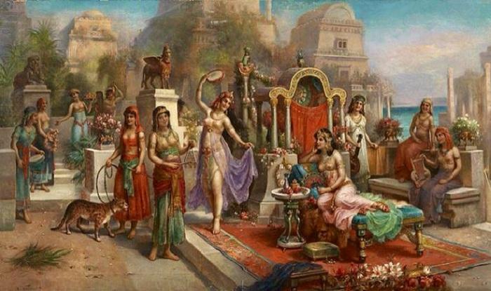 Висячие сады Семирамиды. Вавилонская Месопотамия. | Фото: pinterest.com.