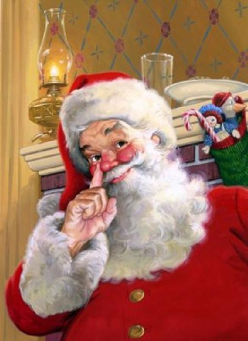 Санта Клаус. Автор: Том Ньюсом.