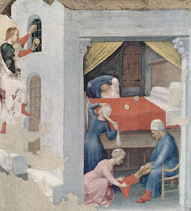Приданое для трех девиц. (Джентиле да Фабриано, ок. 1425).