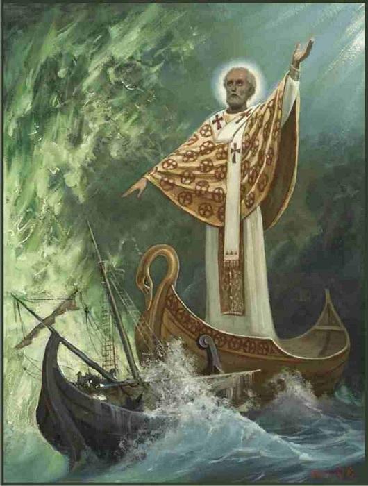 Святой Николай - покровитель моряков.