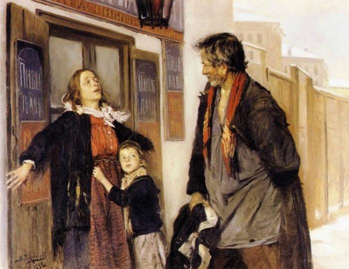 Владимир Маковский.«Не пущу!». 1892 г.