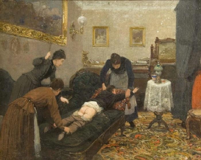Павел Ковалевский. «Порка». 1880 г.