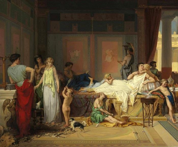 Последний час Помпеи — дом поэта. Автор: Жозеф Команс.