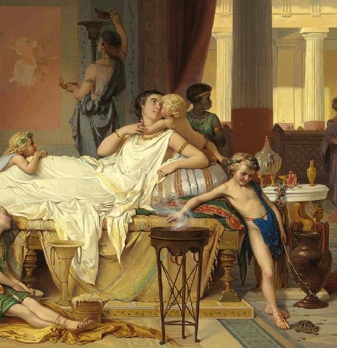 Последний час Помпеи — дом поэта. Фрагмент.
