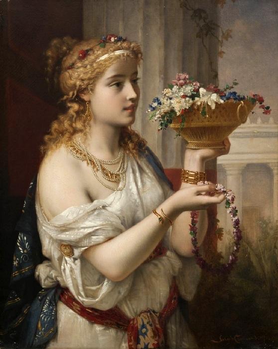 Портрет молодой женщины. Автор: Жозеф Команс.