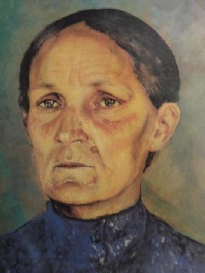 Портрет матери. Автор: К.С. Петров-Водкин.