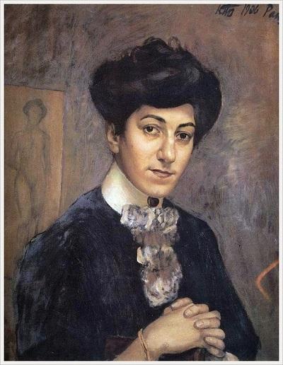 «Портрет М.Ф.Петровой-Водкиной». (1906). Автор: К.С. Петров-Водкин.