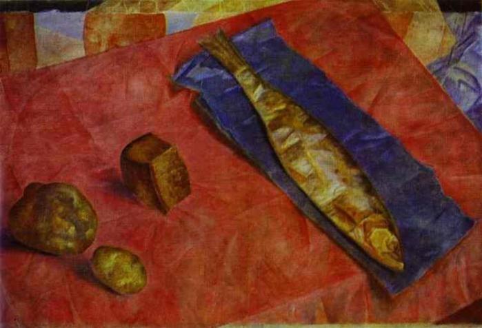 «Сельдь» (1918). Автор: К.С. Петров-Водкин.