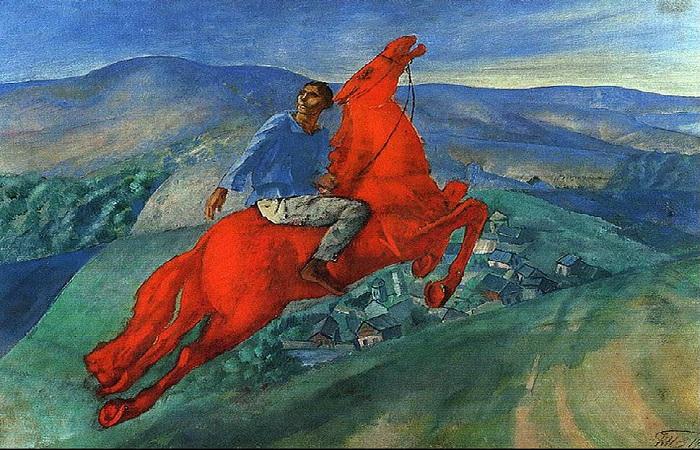 Красный всадник. Автор: К.С. Петров-Водкин.