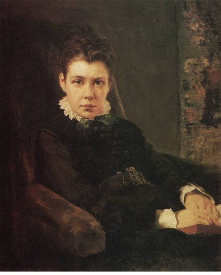 Портрет Веры Дмитриевны Хрущевой, сестры художника (1874). Автор:Василий Поленов.
