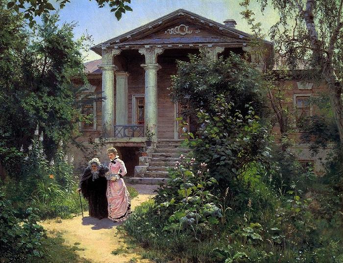 Бабушкин сад. (1879). Автор: Василий Поленов