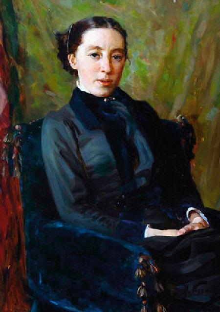 Портрет жены Натальи. Автор: Василий Поленов.