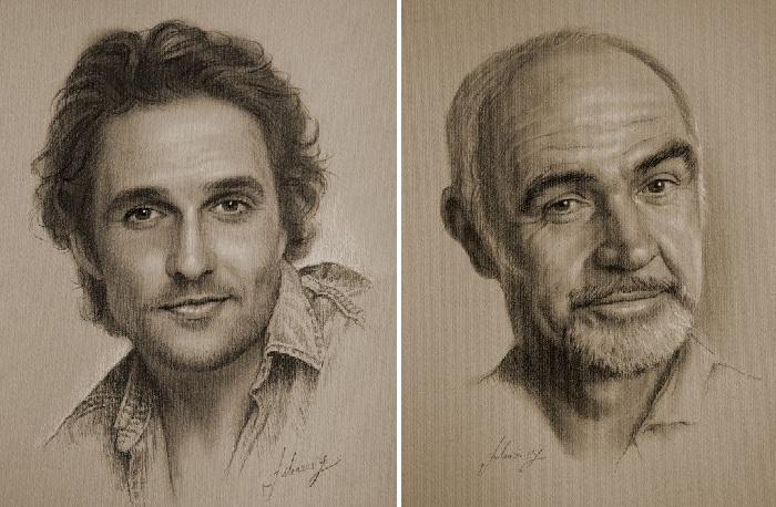 Портретная графика от Кшиштофа Лукашевича. Фото: graphic.org.ru