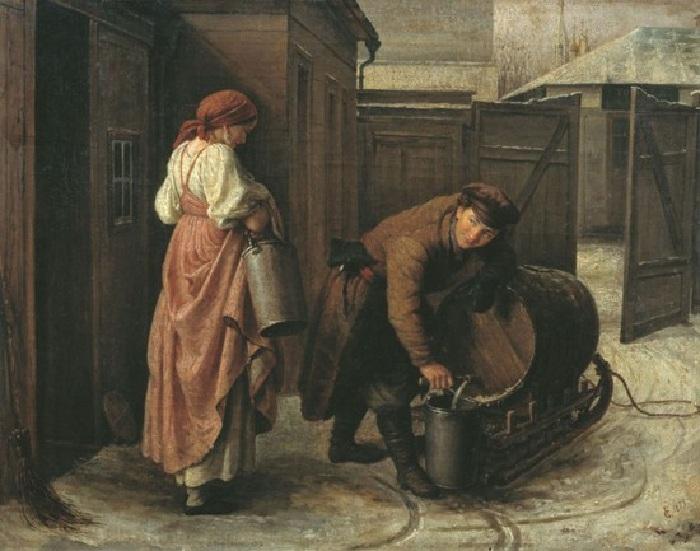 Водовоз. (1873). Автор: Сергей Грибков.