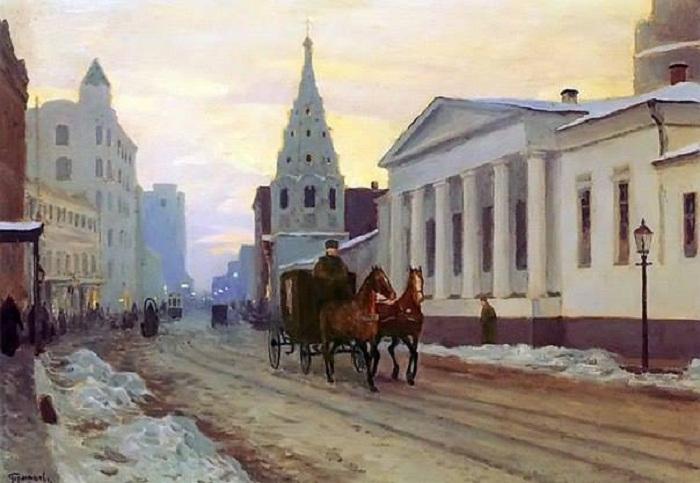 Извозчик старой Москвы.(1800) Художник: Федор Алексеев.