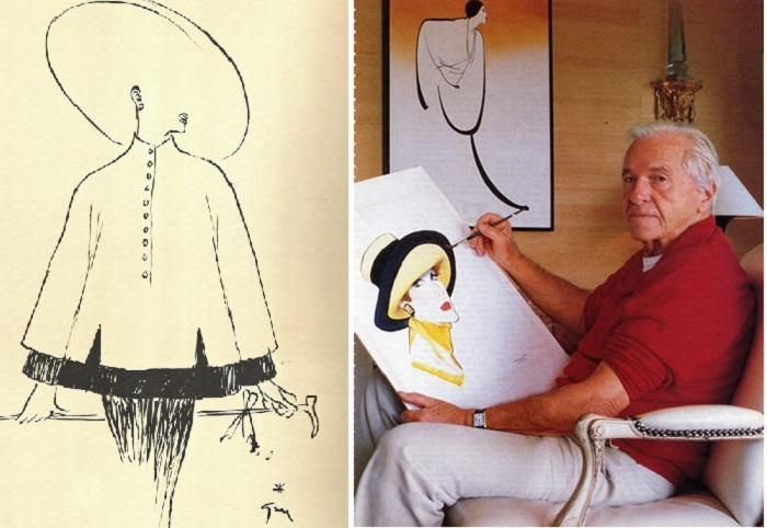 Рене Грюо - иллюстратор французской моды.