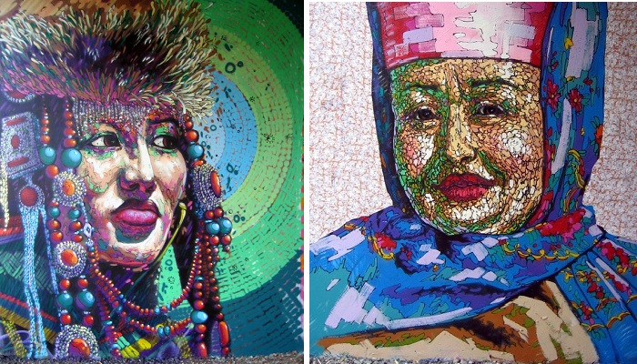 Портреты стрит-арт от Романа Мураткина ¦ Фото: photo.qip.ru