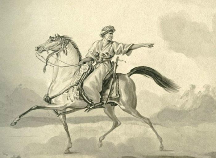 «Автопортрет в образе восточного всадника»