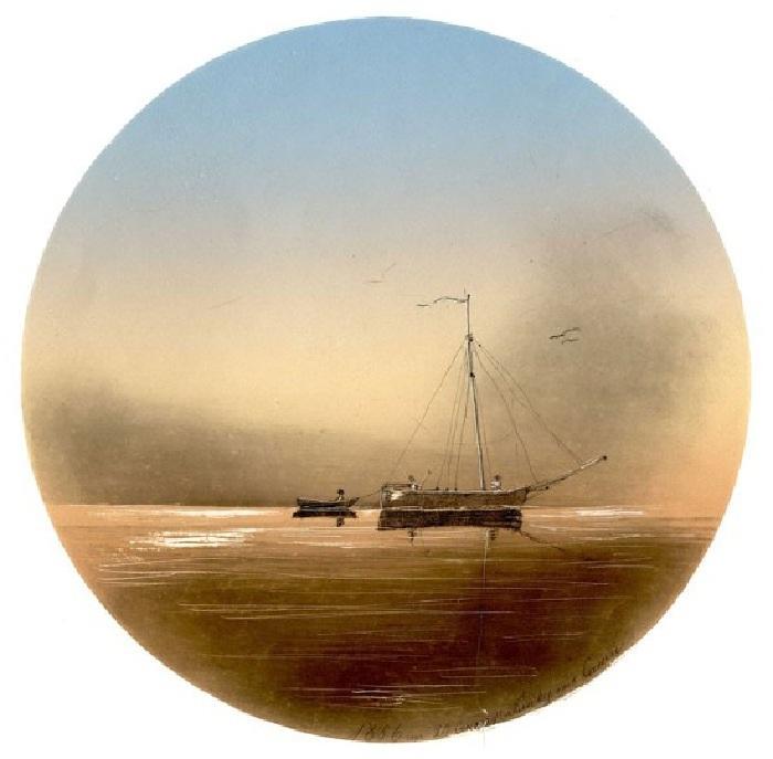 Морской пейзаж. 1856.