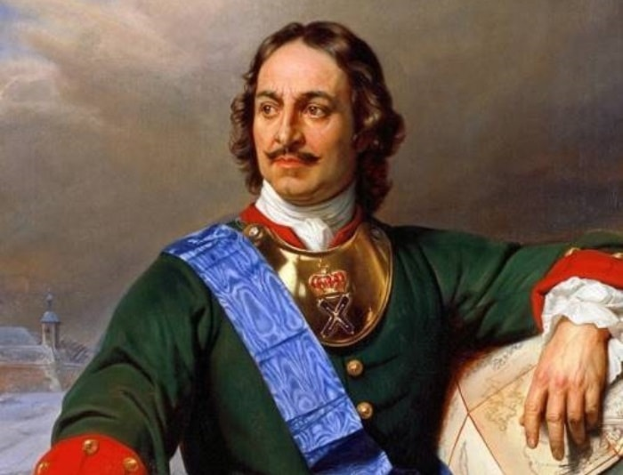 Русский царь - Петр I.