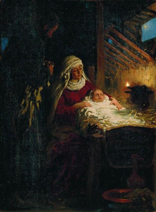 Илья Ефимович Репин.  Рождество Христово.  1890.