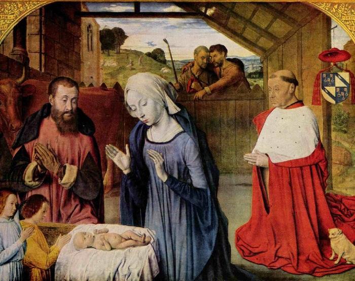 Мастер из Мулена. Рождество Христово и кардинал Ролен.
