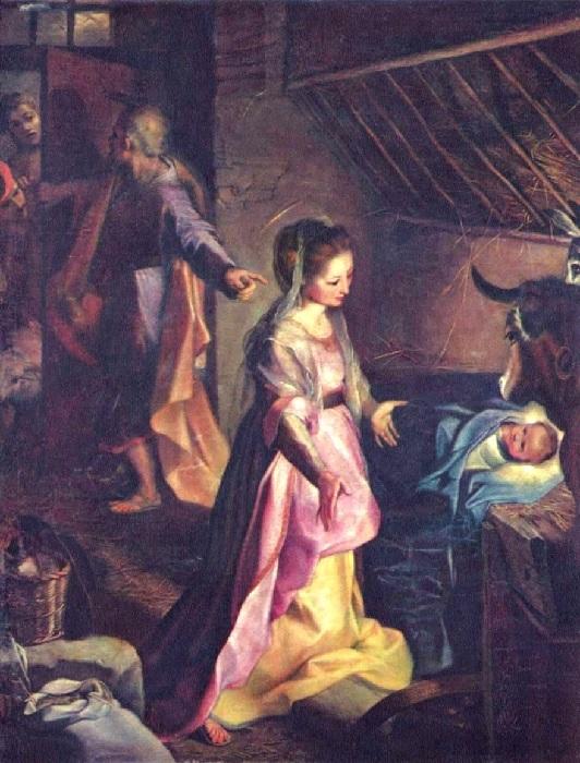 Федерико Бароччи.  Рождество Христово.