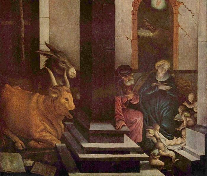 Ханс Бальдунг.  Рождество Христово.