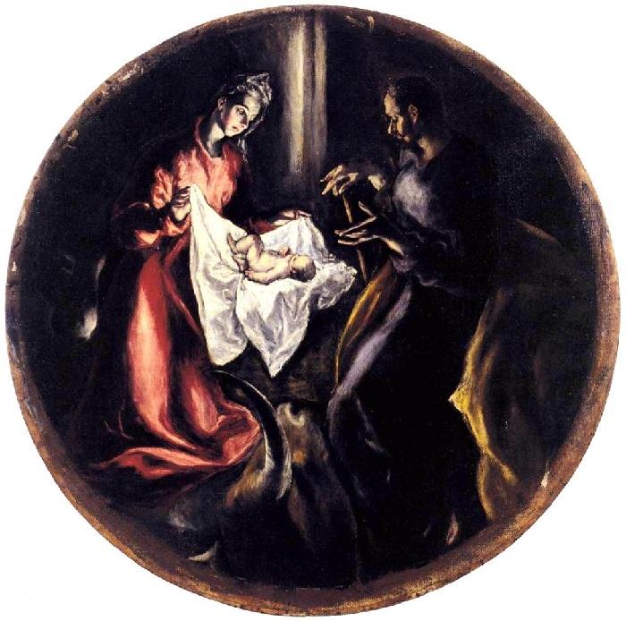 Эль Греко.  Рождество Христово.