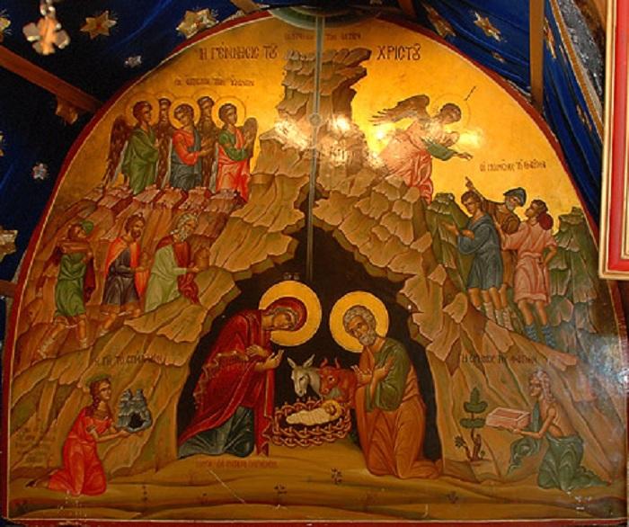 Рождество Христово. Икона из  пещеры в Вифлееме.