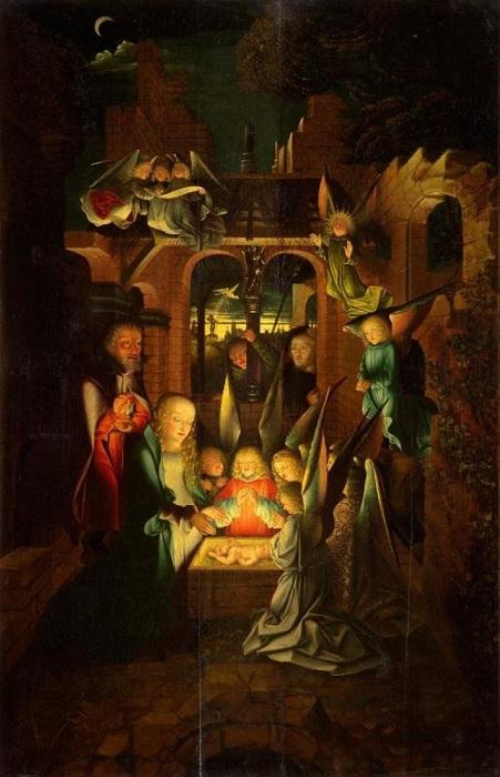 Ян Йост Калькар. Рождество» (Святая ночь) около 1520 года, ГМИИ)