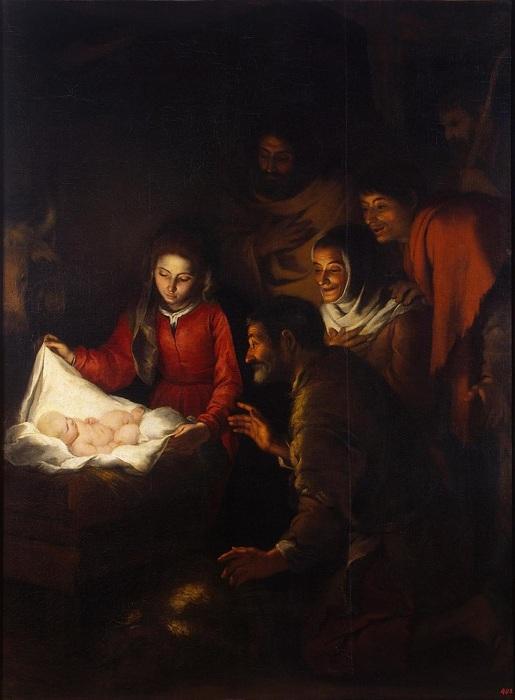 Бартоломе Эстебан Мурильо. Поклонение пастухов 1646–1650 годы, Эрмитаж.