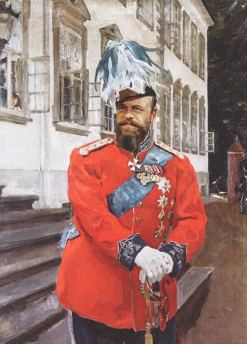 Портрет Александра III в мундире датской Королевской лейб-гвардии (1899). Копенгаген. Дания. Автор: Валентин Серов. | Фото: livejournal.com.