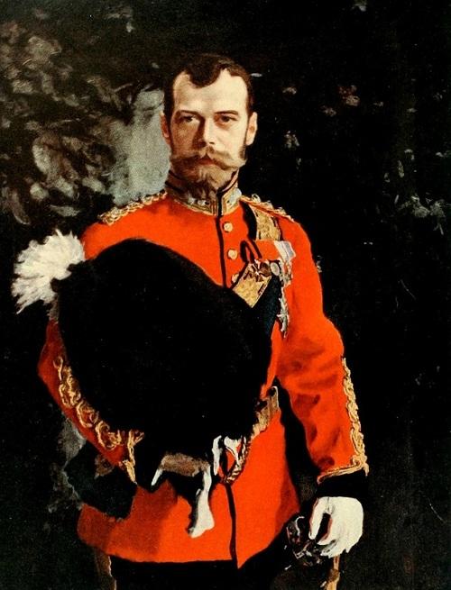 Портрет императора Николая II в форме шефа Шотландских серых драгун. Эдинбург. Автор: Валентин Серов.| Фото: livejournal.com.