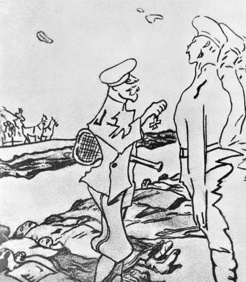 Карикатура на Николая Кровавого. (1905). Автор: Валентин Серов. | Фото: dic.academic.ru.