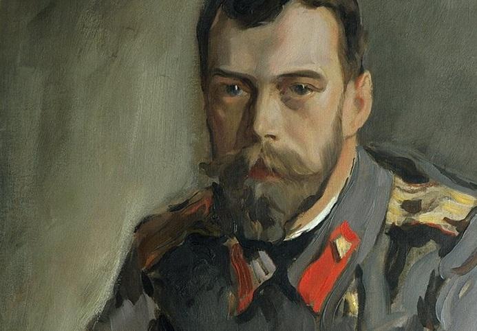 Портрет Николая II. Фрагмент.(1990).  Автор: Валентин Серов. | Фото: artchive.ru