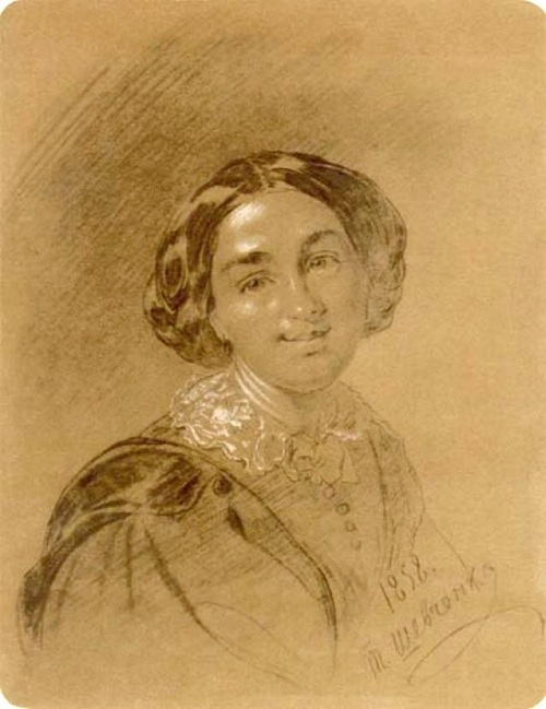 Портрет М.С. Кржисевич. (1858). Автор: Т.Шевченко