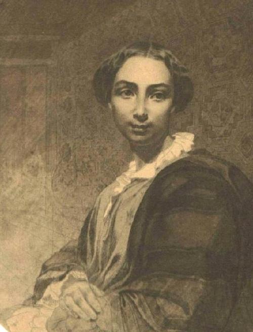 Агата Ускова. (1854). Автор: Т.Шевченко