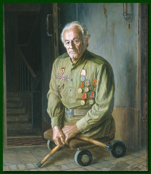 Пулеметчик П.П. Шорин. (1987).Автор: Александр Шилов.| Фото: file-rf.ru/gallery.
