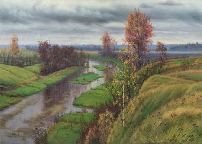 Река Уча. Октябрь. 1996. Автор: Александр Шилов.  | Фото: file-rf.ru/gallery.