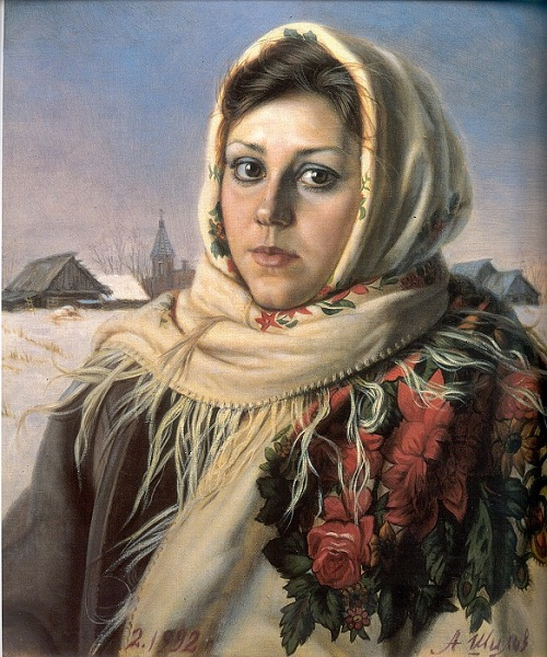 Русская красавица. (1992). Автор: Александр Шилов. Фото: aria-art.ru