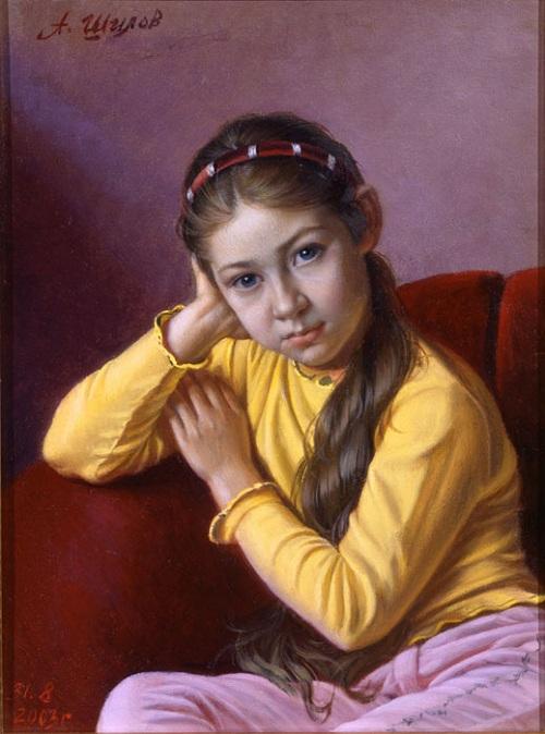 Портрет девочки. Автор: Александр Шилов. Фото: liveinternet.ru.