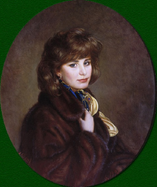 Портрет дочери Маши. (1998)  Автор: Александр Шилов.
